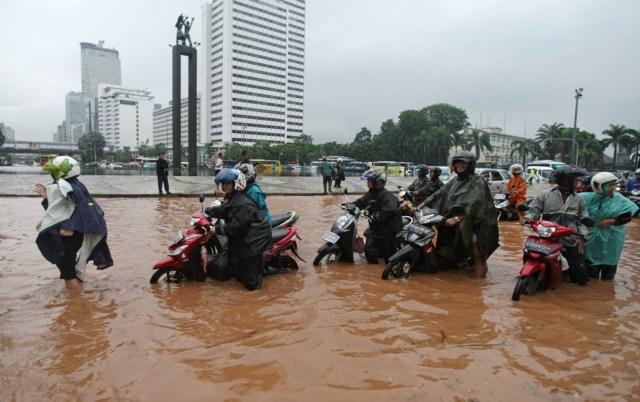 Illustrasi banjir di Jakarta