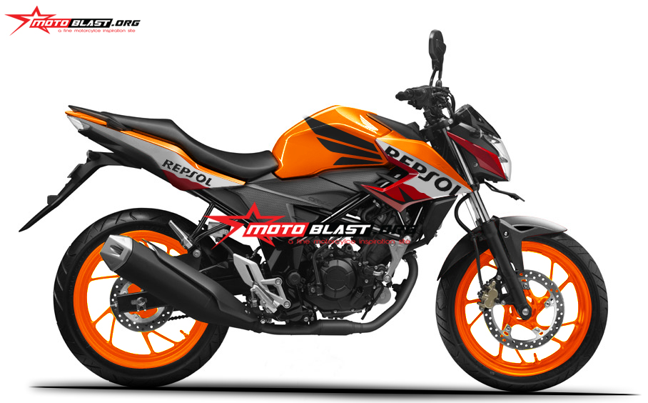 Modifikasi Honda All New CB150 R Black Repsol | Sakahayangna.COM