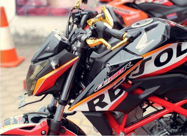 Modifikasi Honda All New CB150 R Black Repsol | Sakahayangna.COM