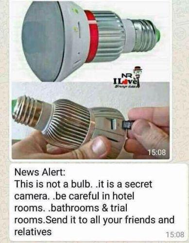 lampu berkamera